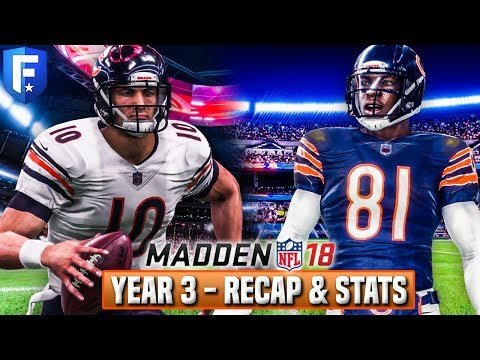 Madden 18 Bears Franchise - Year 3 Season Recap w/ Stats, Sc
