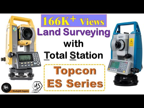 How to do land surveying with the Total Station (Topcon ES series )