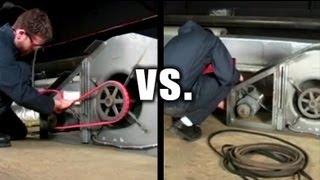 V-Belt Installation -- PowerTwist Plus  vs. Conventional Rubber V-belts