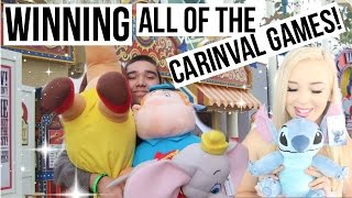 Winning ALL of the Carnival Games at Disneyland California Adventure Boardwalk!