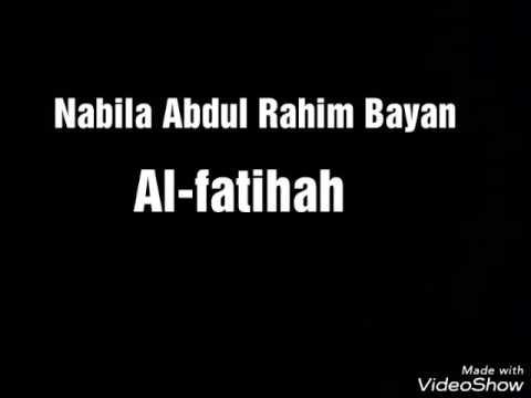 Nabila abdul rahim bayan - Surat Al Fatihah