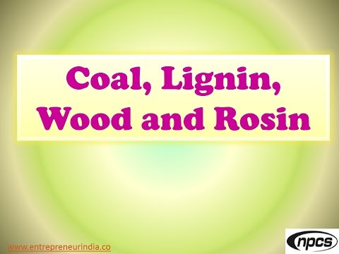 Coal, Lignin, Wood and Rosin Processing