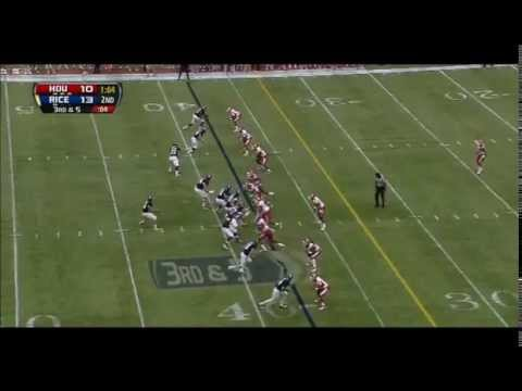 Jordan Taylor - Rice Football - WR - 2013 Houston Game