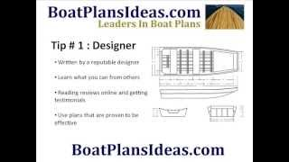 Boat Plans - Boat Building Tips To Help You