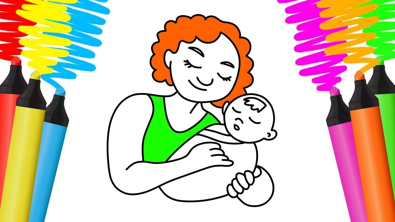 Como Desenhar E Colorir Mae Pintar E Aprender Para Criancas
