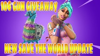 LIVE/ FORTNITE/SAVE THE WORLD/GUN GIVEAWAYS/PLAYING AND TRADING WITH SUBS