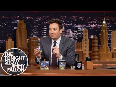 Jimmy Unveils Ben & Jerry's The Tonight Dough Pint Slices