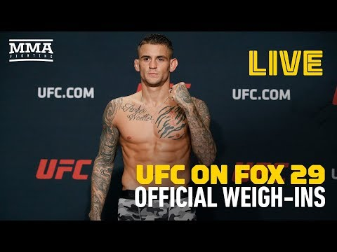 UFC on FOX 29 Glendale OFFICIAL WEIGH-INS LIVE