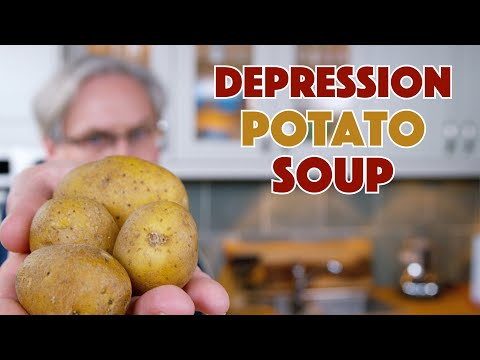 1938 Depression Era Potato Soup Recipe || Glen & Friends Cooking