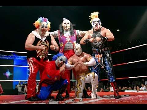 "Triple AAA ""Myzteziz, Psycho Clown, Monster Clown, Murder Clown Vs Averno, Chessman, Daga, El Zorro"""