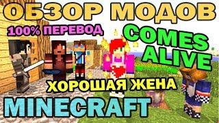 Хорошая жена и разумные жители (Comes Alive на русском) - Обзор мода для Minecraft