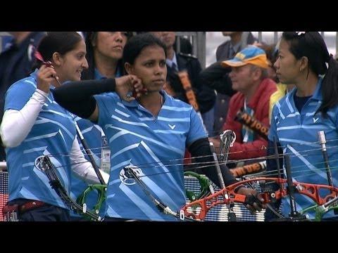 Compound Women Team Bronze - Shanghai - Archery World Cup 2013