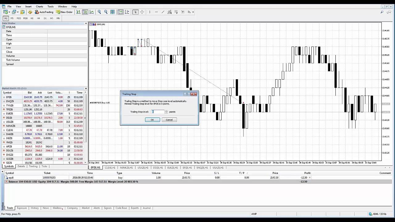 Metatrader5 Mt5 How To Setup Trailing Stop Order Youtube