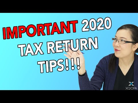 Important 2020 Tax Return Tips!!!!