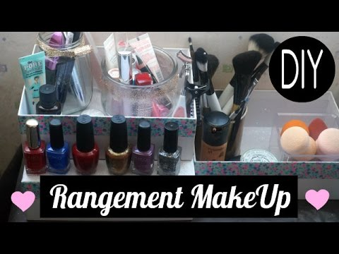 diy rangement make up diy makeup display storage youtube. Black Bedroom Furniture Sets. Home Design Ideas