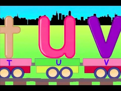 Learn Small Alphabet Train - learning lowercase alphabet abc train for kids