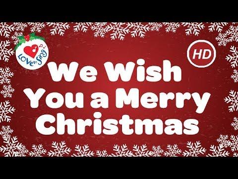 I Wish You A Merry Christmas Lyrics.We Wish You A Merry Christmas With Lyrics Christmas Carol Song Children Love To Sing