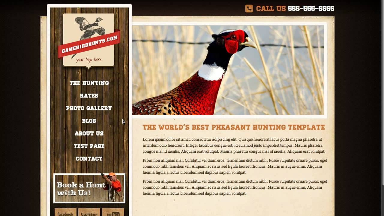 Hunting Websites by Game Bird Hunts - YouTube