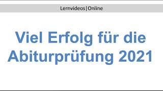 Viel Erfolg für die Abiturprüfung Fachabiturprüfung 2021 (FOS | BOS)