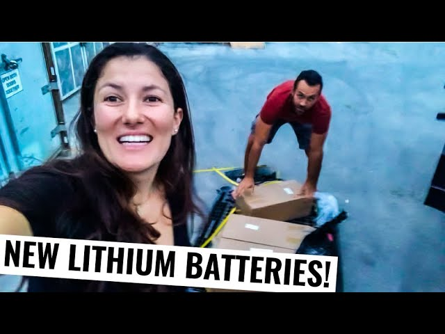 Sailboat Work ⛵ Finally Lithium Batteries For Our Off Grid Catamaran Ep. 59