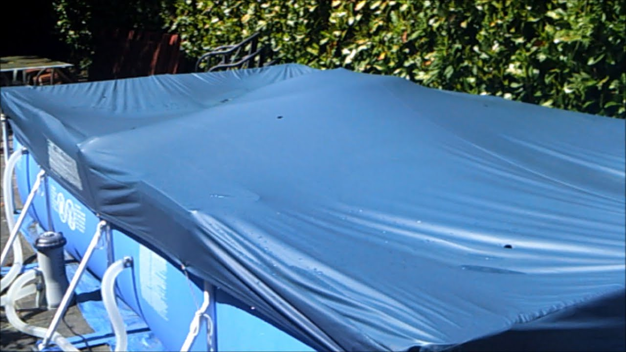 How To Store Your Pool Cover Dry And Clean Intex Swimming Pool Quick Tips Youtube