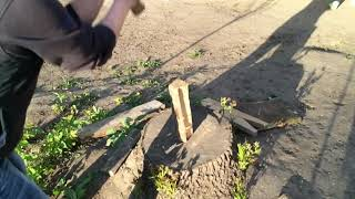 Дрова для шашлыка в слоумо