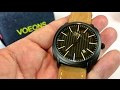 Voeons Analog Quartz Genuine Brown Leather Strap Casual Watch review and giveaway