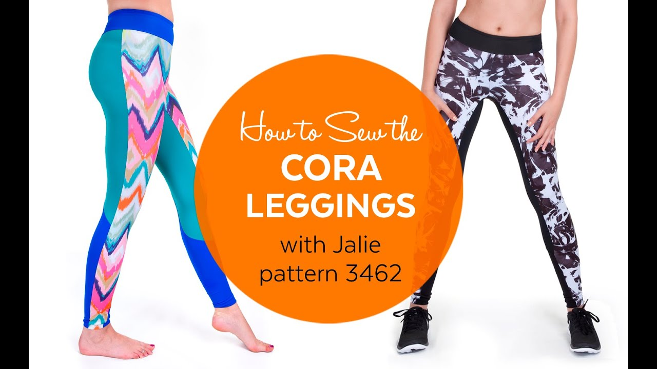 66c2405cdcfe4 How to Sew the Cora Running Tights (Jalie pattern 3462) - YouTube