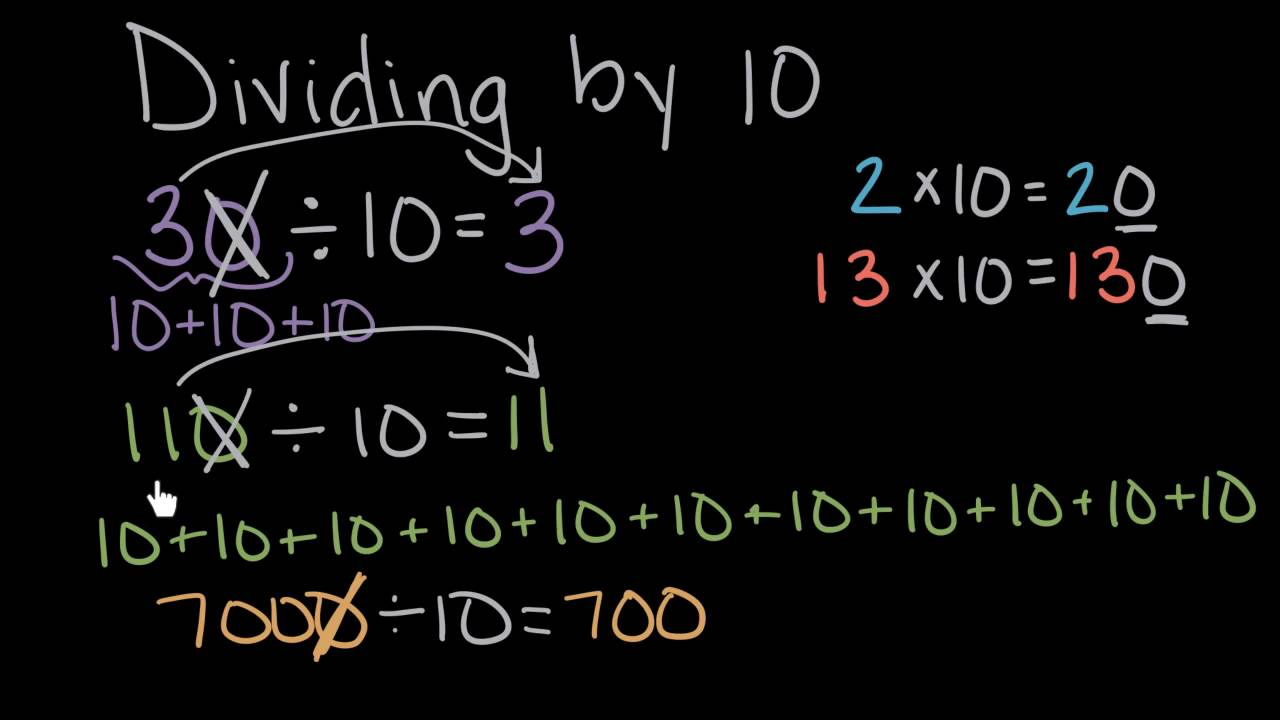 Dividing whole numbers by 10 math 4th grade khan academy dividing whole numbers by 10 math 4th grade khan academy youtube ccuart Gallery