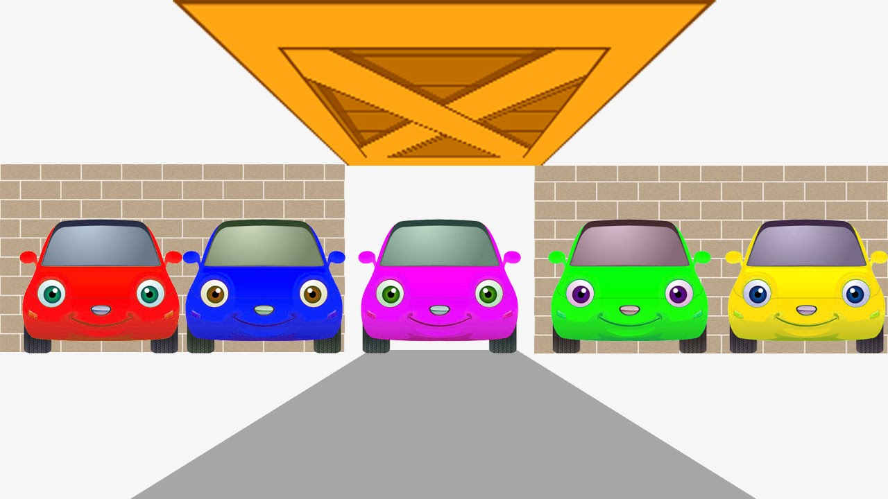 Rainbow Color Cars Animation For Kids And Toddlers Red Pink Blue Green Yellow Cars Animation Youtube