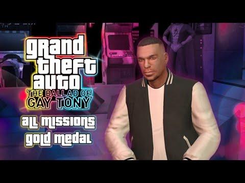 GTA: The Ballad Of Gay Tony - All Missions Walkthrough [Gold Medals] (1080p 60fps)