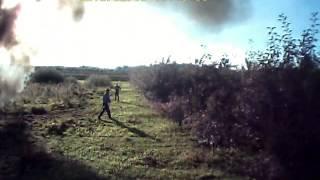 Pożar ciągnika w Gniejewicach