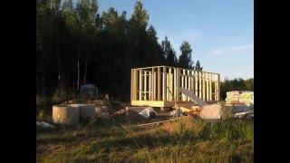 Каркасный дом. за 3 недели в чистом поле. слайд-шоу // переезд в деревню