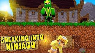 SNEAKING INTO THE LEGO NINJAGO MANSION CHALLENGE!! Baby Duck Minecraft Adventures