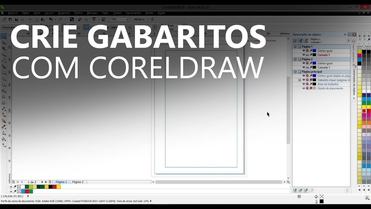 Criando gabaritos com CorelDRAW X6 - YouTube