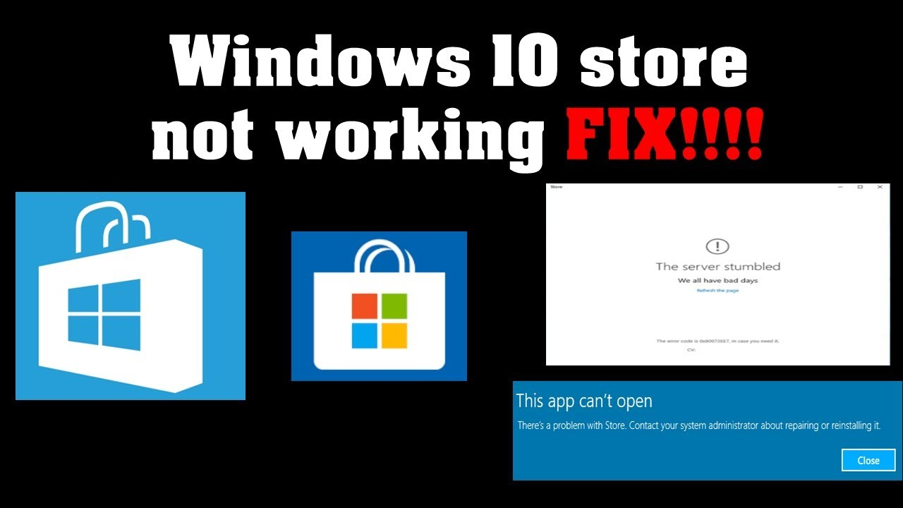 Solved! Windows Store Not Working/Won't Open | Windows 10 - YouTube