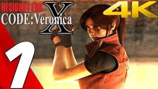 Resident Evil Code Veronica X HD - Gameplay Walkthrough Part 1 - Prologue [4K UHD] PS4/Dolphin