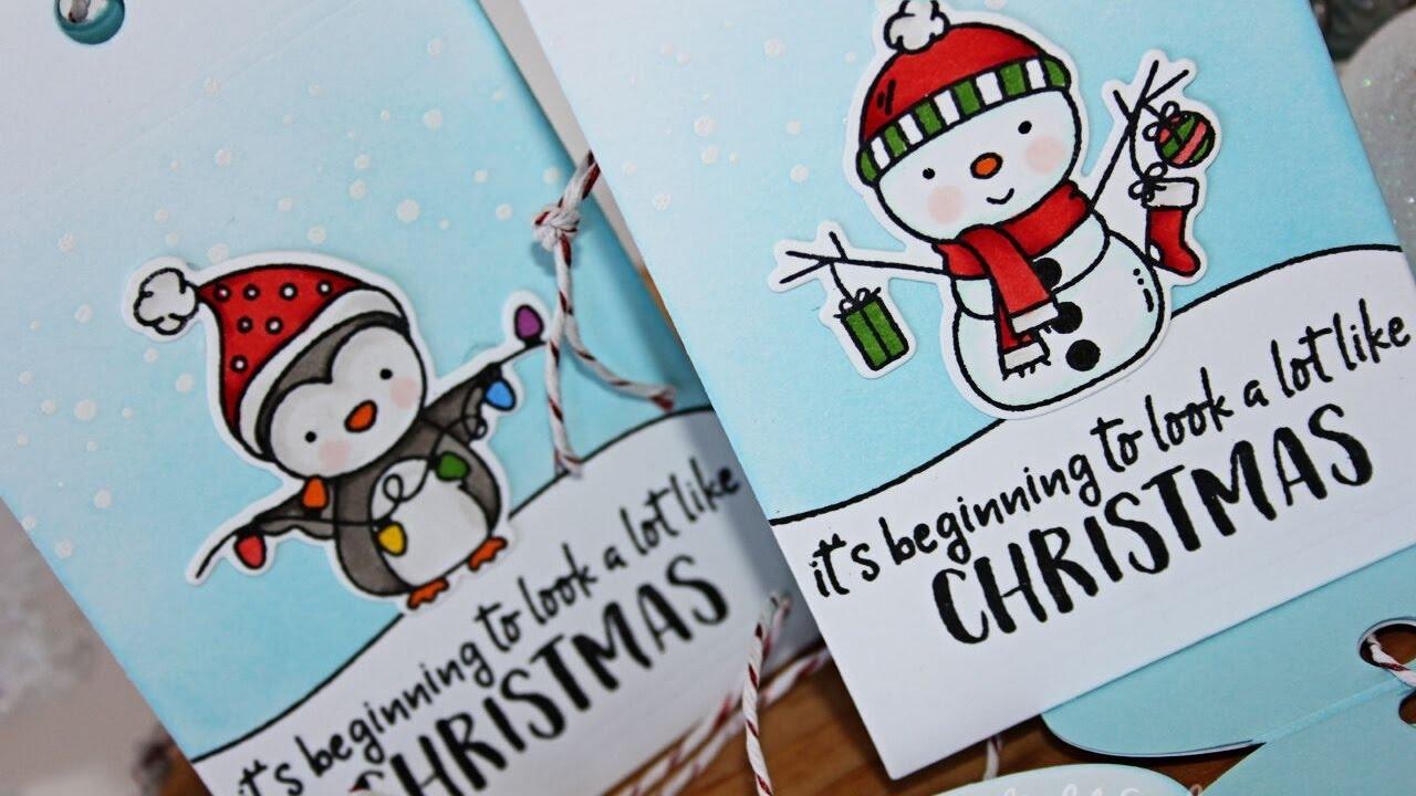 handmade holiday 2016 neat tangled folded gift tags youtube