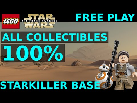 Lego Star Wars The Force Awakens - Starkiller Base 100% - Gold Bricks + Collectibles Locations