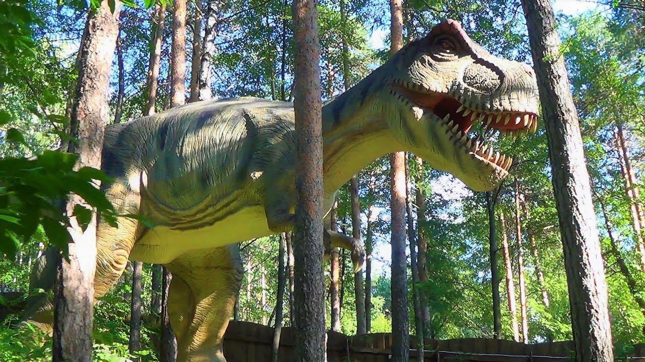 парк юрского периода динозавры наш динозавр игрушка заболел видео для детей