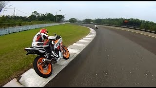 Honda new CBR150R fun race with Marc Marquez & Pedrosa (Sentul)