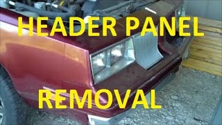 How to Remove a Header Panel Classic Gbody Garage