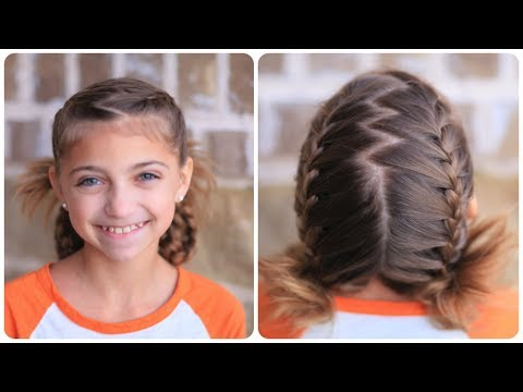 soccer french braids cute girls