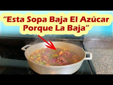 Esta Sopa Baja El Azúcar Porque La Baja - También Limpia El Hígado y Baja El Colesterol