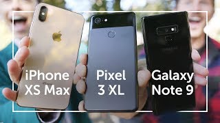 Pixel 3 XL vs iPhone XS Max vs Note 9 | CAMERA SHOOTOUT