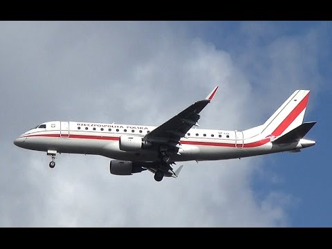 Polish Government Embraer 175 Landing at Amsterdam Airport Schiphol (DutchPlaneSpotter)