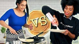 Who Can Make The Best Pancakes In 10 Minutes?