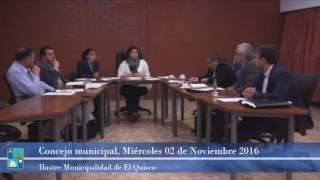 Concejo Municipal Miércoles 02 Noviembre 2016