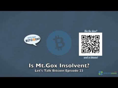 Is Mt.Gox Insolvent?