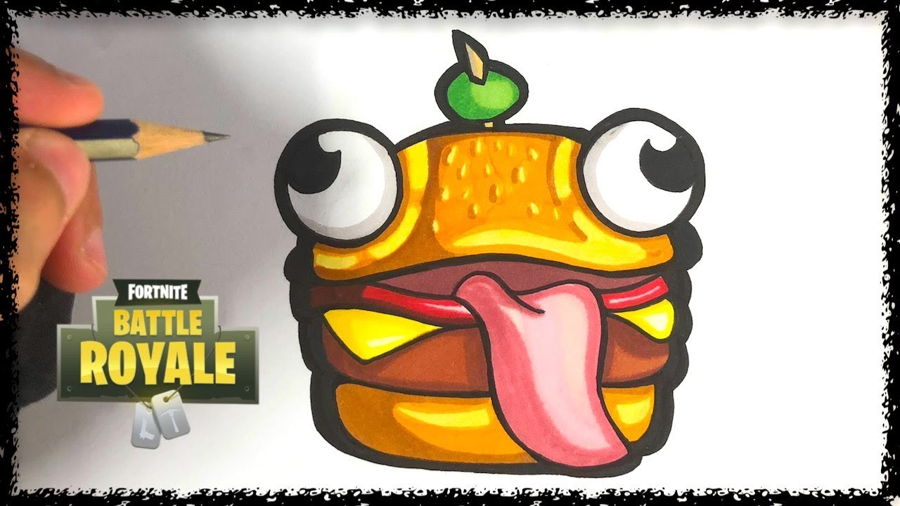 Coloriage Emoji Fortnite.Comment Dessiner Le Durr Burger Fortnite Youtube
